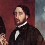 エドガー・ドガ『画家の肖像,1863年頃』
