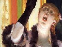 エドガー・ドガ『手袋をした歌手』