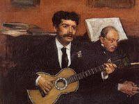 エドガー・ドガ『歌うパガンとドガの父』