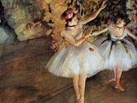 エドガー・ドガ『舞台の2人の踊り子』