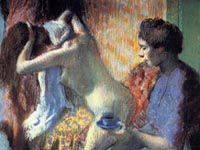 エドガー・ドガ『浴後の朝食』