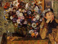 エドガー・ドガ『女と菊の花(菊のある婦人像)』
