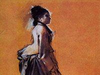 エドガー・ドガ『外出着の若い女』