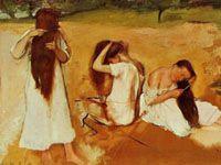 エドガー・ドガ『髪を梳く女たち』