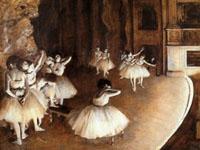 エドガー・ドガ『舞台のバレエ稽古』