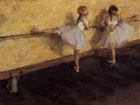 エドガー・ドガ『バーで練習する踊り子』
