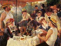 ルノワール『舟遊びをする人たちの昼食』