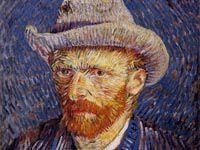 ゴッホ『グレーのフェルト帽をかぶった自画像』