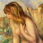 ルノワール『岩に座る浴女』