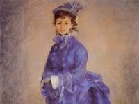 ルノワール『青衣の女 (パリ女)』