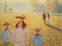 モネ『草原の五人』