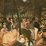 マネ『テュイルリー公園の音楽祭』