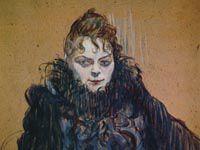 ロートレック『黒い羽根のボアの女』
