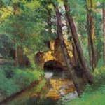 ピサロ『ポントワーズの小さな橋』