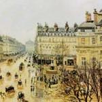 ピサロ『テアトル・フランセ広場、雨の効果』