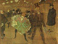 ロートレック『ムーラン・ルージュの踊り,ラ・グーリュと骨なしヴァランタン』