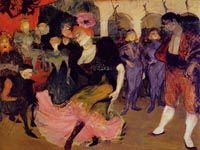 ロートレック『『シルペリック』でボレロを踊るマルセル・ランデール嬢』