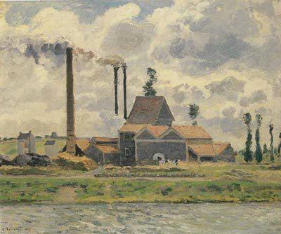 ピサロ『ポントワーズの工場』