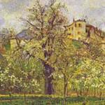 ピサロ『ポントワーズの花咲く菜園、春』