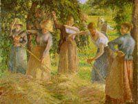 ピサロ『干し草の取り入れ、エラニーにて』