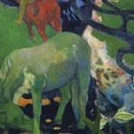 ゴーギャン『白い馬』