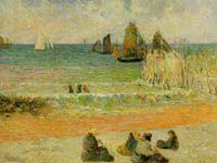 ゴーギャン『ディエップの海岸』