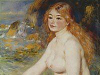 ルノワール『水浴する金髪の少女』