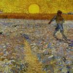 ゴッホ『種まく人と落日』
