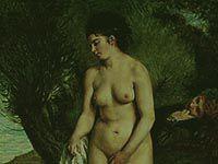 ルノワール『水浴する女とグリフォンテリア』