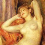ルノワール『眠る浴女』