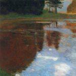 グスタフ・クリムト『カンマー城公園の静かな湖』