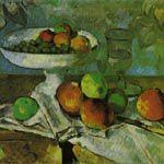 ポール・セザンヌ『果物入れ、グラス、林檎のある静物』