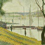 ジョルジュ・スーラ『クールブヴォワの橋』